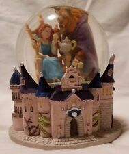 Disney Beauty and the Beast Musical Snow Globe Belle Castle Plays Movie Theme