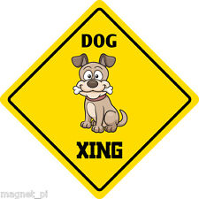 "*Aluminum* Dog Crossing Funny Metal Novelty Sign 12""x12"""
