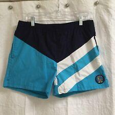 Short Swim Trunks 32-34 Vtg Laguna Color Block Swim Trunks Shorts Medium