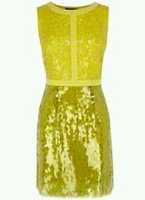 BNWT * COAST * KENZIE SEQUIN  DRESS,12 (UK), YELLOW,EVENING PROM PARTY  WEDDING