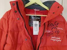 SOCCX Damen Stepp Jacke mit Kapuze und Reißverschluss Farbe rot Größe 42  XL NEU