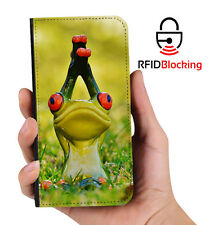 Genuine MYBFF Frog Yoga PU Leather Wallet Custom Case Cover Apple iPhone