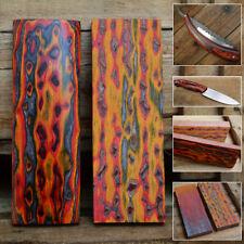 Matériau de poignée de couteau en bois coloré 3D faisant des couteaux