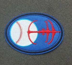 Star Trek Deep Space Nine Niners Baseball Logo Patch 3 1/2 inches wide
