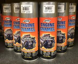 Aervoe Engine Enamel High Heat Paint #582 Cast Iron Gray 1 Case Of (6)12 Oz Cans