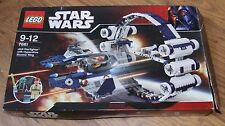 STAR WARS LEGO 7661 JEDI STARFIGHTER WITH HYPERDRIVE BOOSTER RING 100% plus BOX