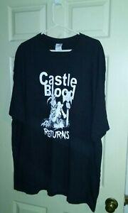 Castle Blood 3XL T-Shirt (Travesty, Eviction, Doomwatch, Necropolis, Sinister)!!