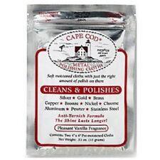 """Cape Cod 2 pk Metal Polish Cloth 4X6"""" cleans most metals 88821"""