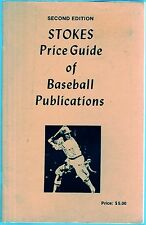 1985 Stokes Price Guide of Baseball Publications Second Edition Paperback