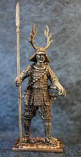 Tin Soldiers * Medieval Japan * Samurai with spear yari, 1600 * 60 mm