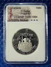 CANADA 1984  Proof  Nickel $  (Jacques Cartier) in slab holder #95