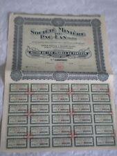 vintage share certificate Stocks Bonds Societe miniere Pac Lan Tonkin 1926