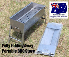 Flat Pack Foldiing BBQ Grill Charcoal Stove portable Steel outdoor picnic camp