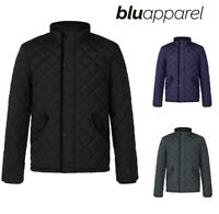 Mens Quilted Jacket Puffer Coat Bomber Warm Winter Padded Parka S M L XL XXL