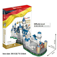Cardboard 3D Puzzle Neuschwanstein Castle Educational Jigsaw Puzzle 98pcs MC062h