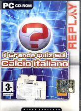 IL GRANDE QUIZ SUL CALCIO ITALIANO Gioco in CD-ROM per PC Ottime Condizioni