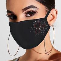 Weihnachten Mund-Nasen-Maske waschbar Stoffmaske wiederverwendbar Schwarz p hot