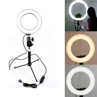 5500K Round Filling Light LED SMD for Camera Selfie Studio with Tripod Stand