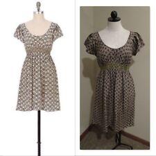 Anthropologie Corey Lynn Calter Golden Chain Dress honeycomb print silk sz 6