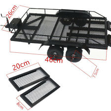 Trailers Car Cargo Carrier Metal Kit for 1/10 Tamiya Axial SCX10 D90 RC Car I2X1