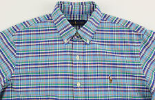 Men's RALPH LAUREN Blue Colors Oxford Plaid Shirt XXL 2XL NWT NEW Nice!
