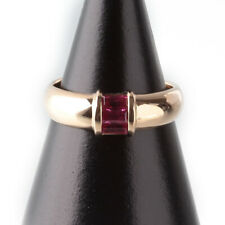 TIFFANY&Co. Ring Stacking Band 750 K18 YG Yellow Gold 3P Ruby US 6 authentic