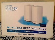 BRAND NEW Linksys Velop AC2400 Dual-Band Mesh WiFi System - 2 Pack -  VLP0102