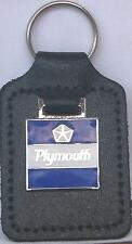 Plymouth Keyring Key Ring (square emblem) badge mounted on a leather fob
