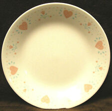 "ONE (1) Corelle FOREVER YOURS Beige Sandstone HEARTS 6 3/4"" Bread Dessert PLATE"