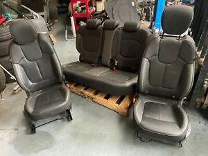 Renault captur leather seats interior front rear heated grey light and dark