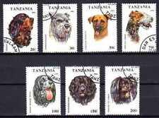 Chiens Tanzanie (22) série complète de 7 timbres oblitérés