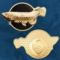 Palau - Dragonfish – Golden Arowana - 10 $ 2019 Proof - Silber - Arahuana