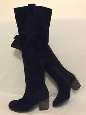 Carvela Black Over The Knee Suede Boots Size 36
