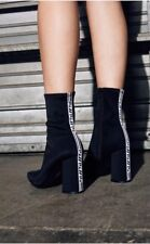 Jeffrey Campbell black siren ankle boot with LF tape sz 7 $200