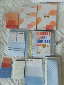 Kikki K Large Ice Blue Perforated Planner + Pencil case BUNDLE - BE BRAVE