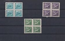 Iceland 1939-45 Fish Vals in Blocks of 4 Very Fine MNH Classics Scarce