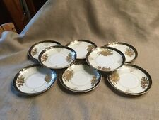 """8 Vintage SGK China Made In Japan 4 1/2"""" Hand painted saucers"""