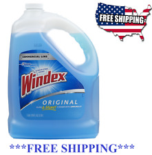 Windex Glass Cleaner Gallon Commercial Line Pro Blue Refill Hot NEW, 128-fl oz