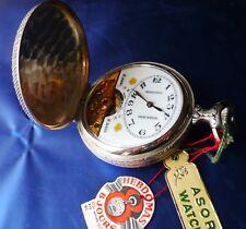 HEBDOMAS carica 8 GIORNI 15 Rubini Vintage orologio da tasca pocket watch