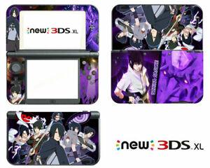 Anime Naruto Sasuke Vinyl Decals Skin Stickers for Nintendo New 3DS XL 2015