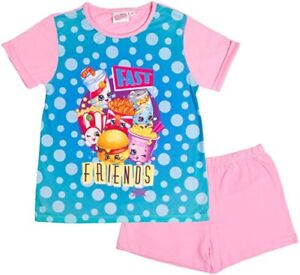 Girls Shopkins Short Summer Pyjamas. Age 5-6 Years. Brand New