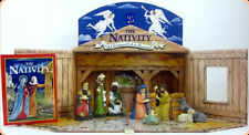 Christmas Nativity Book Stable Figurines Advent Cale