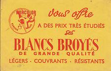 Buvard Vintage  Peinture Blancs Broyés