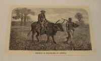 1887 magazine engraving ~ METHOD OF TRAVELING IN ANGOLA