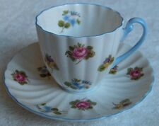 Shelley china England~Rose, Pansy, Forget-Me-Not demitasse cup & saucer-Ludlow