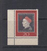 BRD Mi-Nr. 307 - Bogenecke / Ecke / Eckrand 3 ** postfrisch