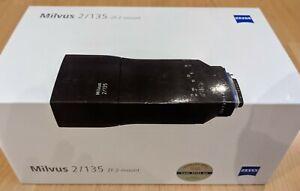 Zeiss Milvus 2 / 135 mm ZF.2-mount neu, für Nikon und Canon Kameras