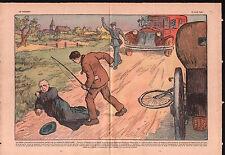 Bicyclette Ploulec'h Côtes-d'Armor Bretagne Abbé Le Clec'h 1937 ILLUSTRATION