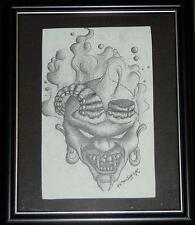 DEMON ART #4 TATTOO DEVIL HORROR GOTHIC DARK FRAMED EVIL SATANIC BRUT FLASH OOAK