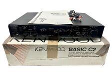New listing Kenwood Basic C2 Stereo Control Amplifier PreAmp Black w/ Original Box & Manual